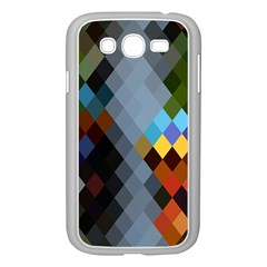 Diamond Abstract Background Background Of Diamonds In Colors Of Orange Yellow Green Blue And More Samsung Galaxy Grand Duos I9082 Case (white)