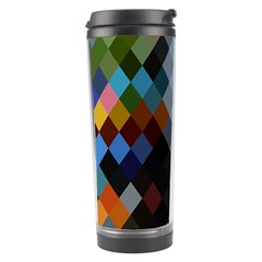 Diamond Abstract Background Background Of Diamonds In Colors Of Orange Yellow Green Blue And More Travel Tumbler
