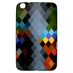 Diamond Abstract Background Background Of Diamonds In Colors Of Orange Yellow Green Blue And More Samsung Galaxy Tab 3 (8 ) T3100 Hardshell Case