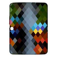 Diamond Abstract Background Background Of Diamonds In Colors Of Orange Yellow Green Blue And More Samsung Galaxy Tab 3 (10.1 ) P5200 Hardshell Case
