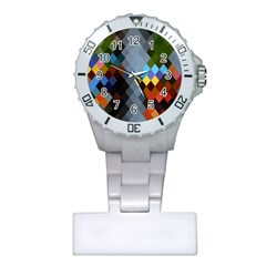 Diamond Abstract Background Background Of Diamonds In Colors Of Orange Yellow Green Blue And More Plastic Nurses Watch