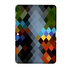 Diamond Abstract Background Background Of Diamonds In Colors Of Orange Yellow Green Blue And More Samsung Galaxy Tab 2 (10.1 ) P5100 Hardshell Case