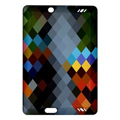 Diamond Abstract Background Background Of Diamonds In Colors Of Orange Yellow Green Blue And More Amazon Kindle Fire Hd (2013) Hardshell Case