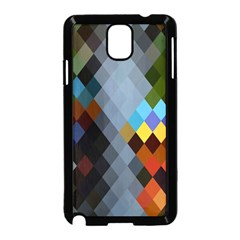 Diamond Abstract Background Background Of Diamonds In Colors Of Orange Yellow Green Blue And More Samsung Galaxy Note 3 Neo Hardshell Case (black)