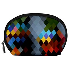 Diamond Abstract Background Background Of Diamonds In Colors Of Orange Yellow Green Blue And More Accessory Pouches (Large)