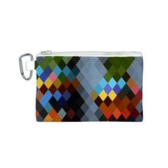 Diamond Abstract Background Background Of Diamonds In Colors Of Orange Yellow Green Blue And More Canvas Cosmetic Bag (s)