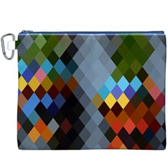 Diamond Abstract Background Background Of Diamonds In Colors Of Orange Yellow Green Blue And More Canvas Cosmetic Bag (xxxl)
