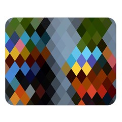 Diamond Abstract Background Background Of Diamonds In Colors Of Orange Yellow Green Blue And More Double Sided Flano Blanket (Large)