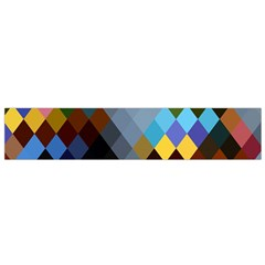 Diamond Abstract Background Background Of Diamonds In Colors Of Orange Yellow Green Blue And More Flano Scarf (Small)