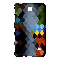 Diamond Abstract Background Background Of Diamonds In Colors Of Orange Yellow Green Blue And More Samsung Galaxy Tab 4 (8 ) Hardshell Case