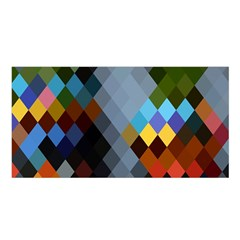 Diamond Abstract Background Background Of Diamonds In Colors Of Orange Yellow Green Blue And More Satin Shawl