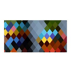 Diamond Abstract Background Background Of Diamonds In Colors Of Orange Yellow Green Blue And More Satin Wrap