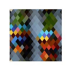 Diamond Abstract Background Background Of Diamonds In Colors Of Orange Yellow Green Blue And More Small Satin Scarf (square)