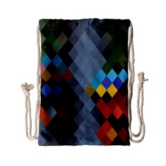 Diamond Abstract Background Background Of Diamonds In Colors Of Orange Yellow Green Blue And More Drawstring Bag (small)