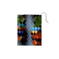 Diamond Abstract Background Background Of Diamonds In Colors Of Orange Yellow Green Blue And More Drawstring Pouches (xs)