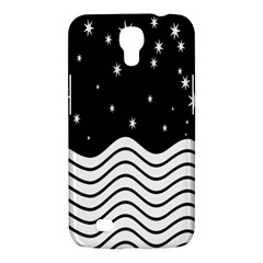 Black And White Waves And Stars Abstract Backdrop Clipart Samsung Galaxy Mega 6 3  I9200 Hardshell Case