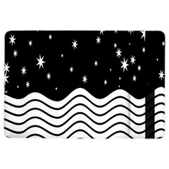 Black And White Waves And Stars Abstract Backdrop Clipart Ipad Air 2 Flip