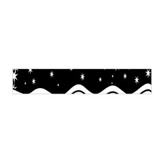 Black And White Waves And Stars Abstract Backdrop Clipart Flano Scarf (Mini)