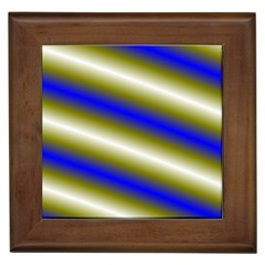 Color Diagonal Gradient Stripes Framed Tiles