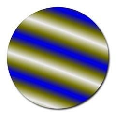 Color Diagonal Gradient Stripes Round Mousepads