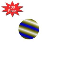 Color Diagonal Gradient Stripes 1  Mini Magnets (100 Pack)