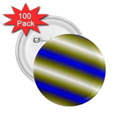 Color Diagonal Gradient Stripes 2 25  Buttons (100 Pack)