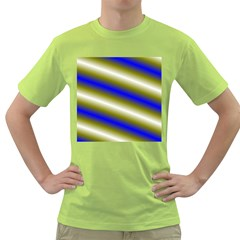Color Diagonal Gradient Stripes Green T Shirt