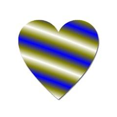 Color Diagonal Gradient Stripes Heart Magnet