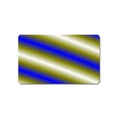 Color Diagonal Gradient Stripes Magnet (Name Card)