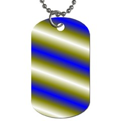 Color Diagonal Gradient Stripes Dog Tag (Two Sides)