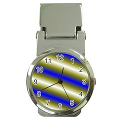 Color Diagonal Gradient Stripes Money Clip Watches