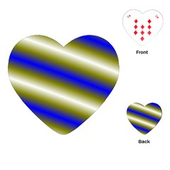 Color Diagonal Gradient Stripes Playing Cards (Heart)