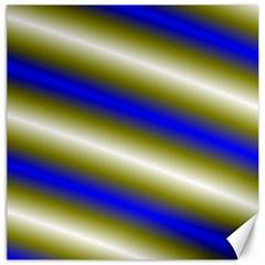 Color Diagonal Gradient Stripes Canvas 16  X 16