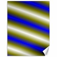 Color Diagonal Gradient Stripes Canvas 18  X 24