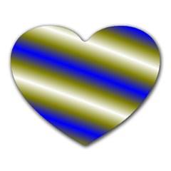Color Diagonal Gradient Stripes Heart Mousepads