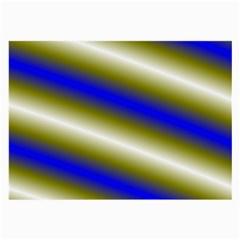 Color Diagonal Gradient Stripes Large Glasses Cloth