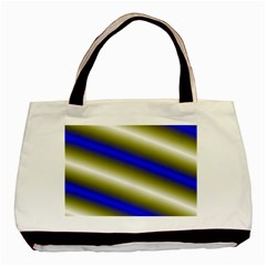 Color Diagonal Gradient Stripes Basic Tote Bag (Two Sides)