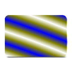 Color Diagonal Gradient Stripes Plate Mats
