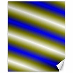 Color Diagonal Gradient Stripes Canvas 11  X 14