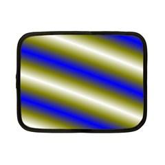Color Diagonal Gradient Stripes Netbook Case (small)