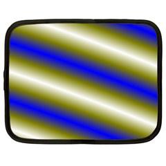 Color Diagonal Gradient Stripes Netbook Case (large)