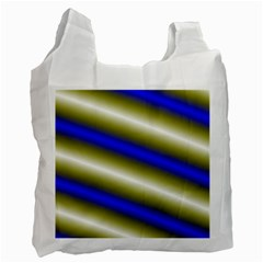 Color Diagonal Gradient Stripes Recycle Bag (Two Side)