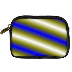 Color Diagonal Gradient Stripes Digital Camera Cases