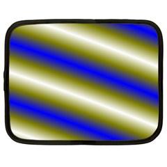 Color Diagonal Gradient Stripes Netbook Case (XXL)