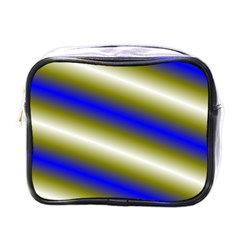 Color Diagonal Gradient Stripes Mini Toiletries Bags
