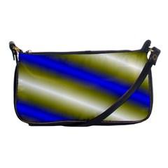 Color Diagonal Gradient Stripes Shoulder Clutch Bags