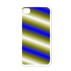 Color Diagonal Gradient Stripes Apple iPhone 4 Case (White)