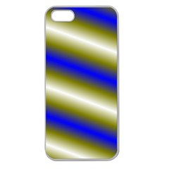 Color Diagonal Gradient Stripes Apple Seamless Iphone 5 Case (clear)