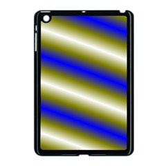 Color Diagonal Gradient Stripes Apple iPad Mini Case (Black)