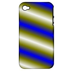 Color Diagonal Gradient Stripes Apple Iphone 4/4s Hardshell Case (pc+silicone)